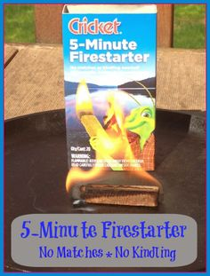 Every Camper needs to pack the Cricket 5-Minute Firestarter for convenience #Giveaway  #sponsor #Giveaway