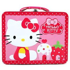 Amazon.com: Hello Kitty Tin Lunch Box [Cupcake]: Toys & Games