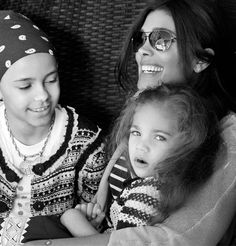 Rachel Roy with her daughters Ava and Tallulah.