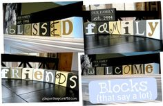 From these 7 blocks with 4 letters on each one you can make 15+ seasonal words!!