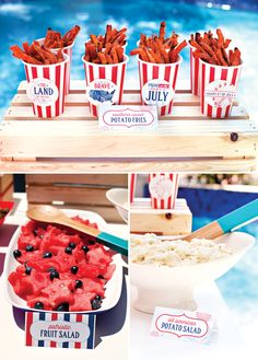 How cute would it be to have a July 4th inspired party for their 4th Birthday?? All American County Fair 4th of July Party