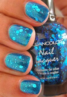 sparkled blue toe nails, nail art designs, nail polish designs for toes, summer nail art, nails and toes designs, cute nails summer colors, sparkly nails, blue sparkle nails, blue nails