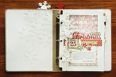 pretty december daily by Kelly Goree! love the white on white snowflakes.