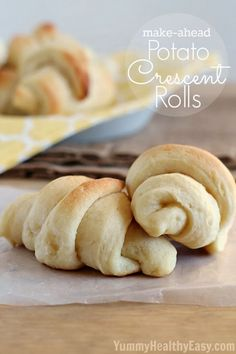 Easy homemade crescent rolls made using mashed potatoes that can be refrigerated for up to 2 days before rolling out and baking!