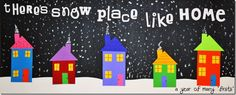 there is snow place like home craft