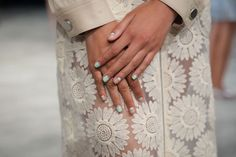 Spring 2015 Nail Trend: Negative-space manicures, seen at Charlotte Ronson