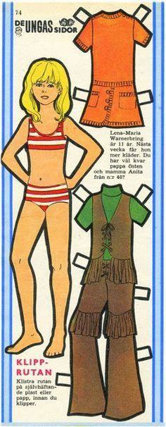 1970s paper doll