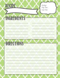 book idea, cook, printables, recip pin, recipe binders, organizr, binder printabl, recip organ, recip binder