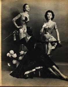 Vintage Photography: Jean Patchett, Dovima and Suzy Parker by Constantin Joffé 1955
