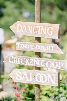 cute wedding signs // photo by StaceyRamsey.com
