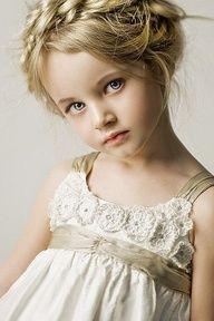 #flower #girl #dress with flower details