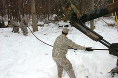 Members of the Maryland National Guard worked with civilian authorities in Garrett County, Md., to help in response to the snowfall that hit the county as a result of Hurricane Sandy. The MDNG Soldiers helped to remove debris from roadways and power lines, transported citizens and emergency workers, conducted health and welfare checks, as well as other duties throughout the county.