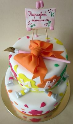 Painter cake By overtempt on CakeCentral.com