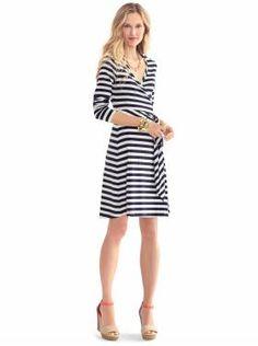 wrap dresses, spring dresses, stripes wrap dress, outfit, the dress