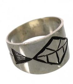 Genuine Sterling Silver Native American Hopi Ring Size 5-1/4 PX25952 http://www.silvertribe.com