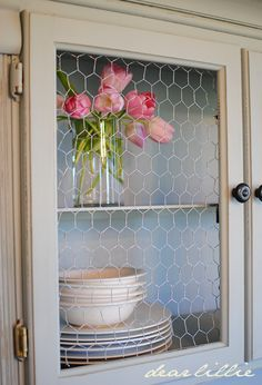 replace glass with chicken wire