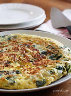Light Swiss Chard Frittata #vegetarian #frittata #breakfast #swisschard #lowfat
