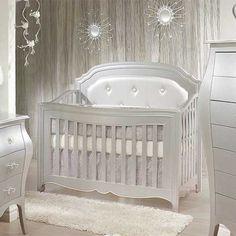 Alexa 5-in-1 Convertible Crib in Silver from PoshTots