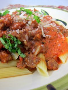 Spicy Tuscan Style Sausage Ragu Recipe ~ extremely flavorful and SO easy to make
