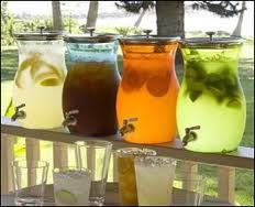 A great idea for the beverage table.