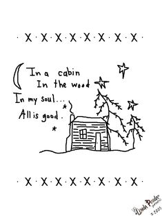 Free Primitive Embroidery Patterns | Free Primitive Stitching Patterns by Traude log cabin embroideri pattern, primitive crafts, doll patterns, log cabins, embroidery patterns free, craft patterns, craft ideas, cabin crafts, country crafts