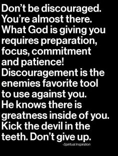Take heart...God is for you and working all things out for your good...