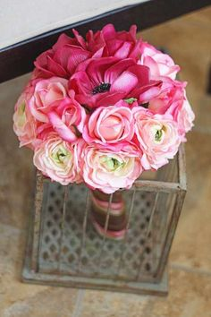 Southern Girl Weddings Pink Real Touch Bouquet www.SouthernGirlWeddings.etsy.com