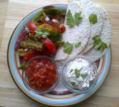 Rocket and Roses Vegan Kitchen: Colleen's Grilled Veggie Fajitas with Cashew Sour Cream