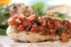 Meal Planning Monday:  Chicken with Tomato and Basil Salsa