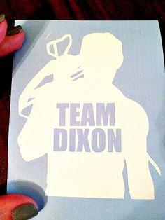 Team Dixon Walking Dead decal by VinylsaurusRex on Etsy, $4.00