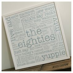 the eighties unframed recycled paper print | wood and willow