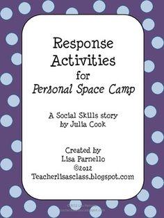 Personal Space Camp Response Activities - Lisa Parnello - TeachersPayTeachers.com