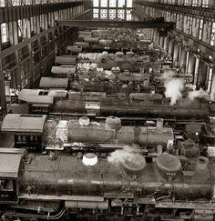 Atchison, Topeka & Santa Fe steam locomotive shop