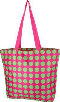 PROMO - Green Polka Dot Tote Bag at The Diabetes Site