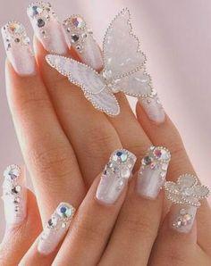 uñas decoradas para novias imagenes