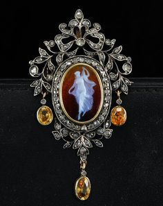Georgian cameo diamond brooch/pendant