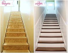 IHeart Organizing: Secret Stairs: No Longer a Secret! using home depot stair tread kit