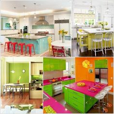 5 Bright & Colorful Kitchens