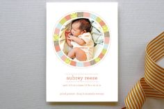BRIGHT QUILT #birth #announcement #baby