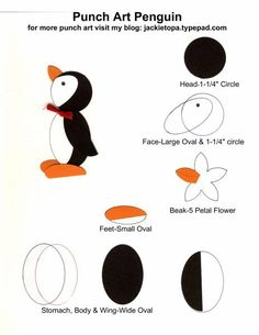 Punch Art Penguin by jactop - Cards and Paper Crafts at Splitcoaststampers