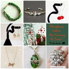 With the Christmas season comes the wonderful and festive colors of Christmas tree green, Rudolph the Reindeer red, starlit gold, and snowflake silver. Dressing in these colors is one of the best parts of the holiday season, so this is a list of 20 fabulous and trendy red, green, silver, and gold DIY jewelry Christmas patterns to make this holiday season. Start the Christmas season off joyously with these four merry Christmas colors adorning you. | AllFreeJewelryMaking.com