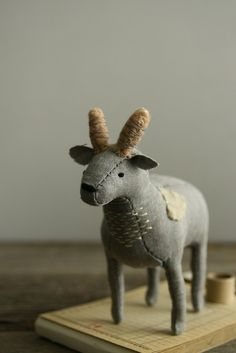 ☃ Plush Toy Preciousness ☃  cute little plush goat