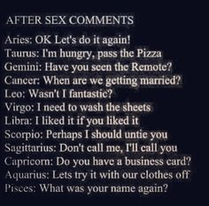 Zodiac signs in bed