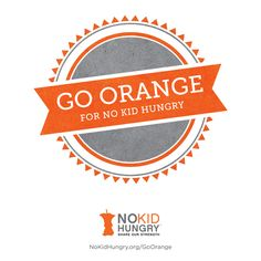 Join us as we #goorange for #nokidhungry! Tag a photo of yourself on Instagram going orange with the hashtags #MomsFightHunger #GoOrange and we'll upload it into our slideshow. I'll publish it here later this month, can't wait to see YOU #goorange!