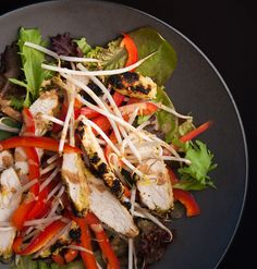 Reader recipe: Tangy Grilled Thai Chicken Salad is a runner-up in our recipe contest and soooo good! The chicken gets a coconut crust, and the almond butter dressing is just awesome.