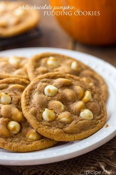 White Chocolate Pumpkin Pudding cookies will be the chewiest softest most amazing cookies you will make!
