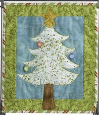 """Tinsel Tree Pattern by Patchabilities at KayeWood.com. 12"""" x 14"""" Finished. Here is another great, simple project that is perfect for machine applique beginners. The buttons really make it sparkle. Don't forget the ornament buttons and snowflake paint! http://www.kayewood.com/item/Tinsel_Tree_Pattern/3716 $9.00"""