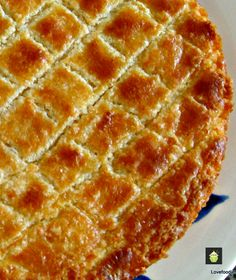 Dutch Buttercake (Boterkoek) -Easy to make and very popular! #cake #Dutch #Buttercake #Boterkoek