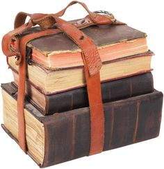 old books. leather and OLD.