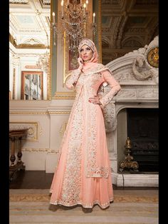 Beautiful Pakistani bride, peach Pakistani wedding dress, hijab wedding style